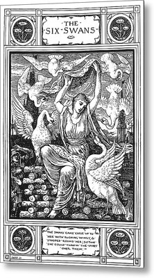 Grimm The Six Swans Metal Print by Granger