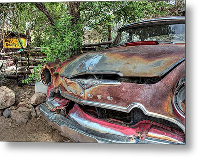 Hackberry General Store On Route 66 Metal Print by Lynn Jordan