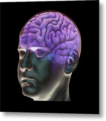 Healthy Brain Metal Print by Zephyr