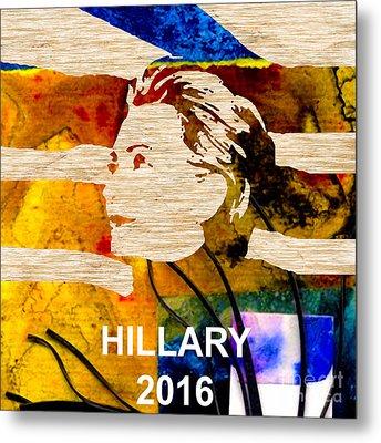 Hillary Clinton 2016 Metal Print by Marvin Blaine