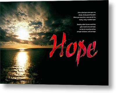 Metal Print featuring the digital art Hope by Chuck Mountain