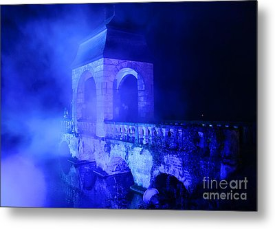 Illumina Light Show At Schloss Dyck Germany Metal Print by David Davies