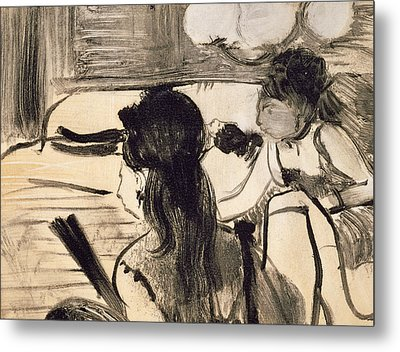 Illustration From La Maison Tellier By Guy De Maupassant Metal Print by Edgar Degas
