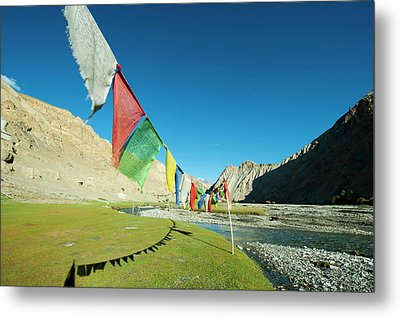 India, Ladakh, Markha Valley, Scenic Metal Print by Anthony Asael
