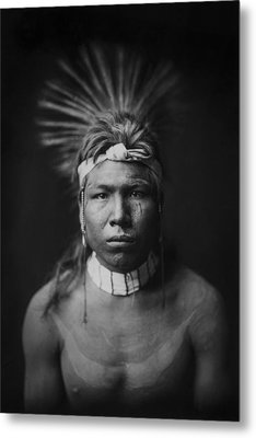 Indian Of North America Circa 1905 Metal Print by Aged Pixel