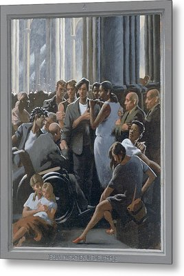 4. Jesus Preaches In The Temple / From The Passion Of Christ - A Gay Vision Metal Print by Douglas Blanchard