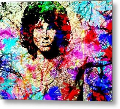 Jim Morrison Metal Print by Bogdan Floridana Oana