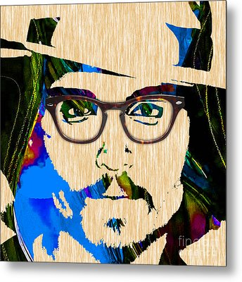 Johnny Depp Collection Metal Print