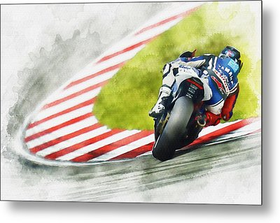 Jorge Lorenzo - Team Yamaha Racing Metal Print by Don Kuing