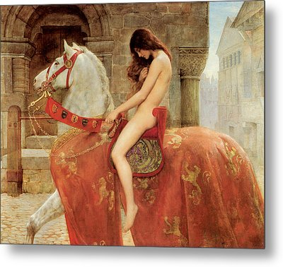Lady Godiva Metal Print by John Collier