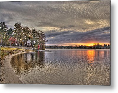 4 Lake Lenape W Sunrise6 Metal Print by Greg Vizzi