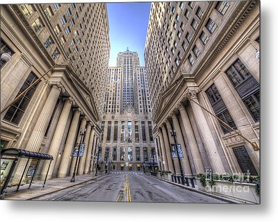 Lasalle Street In Chicago Metal Print by Twenty Two North Photography