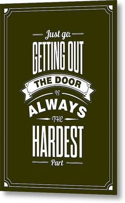 Life Motivating Quotes Poster Metal Print