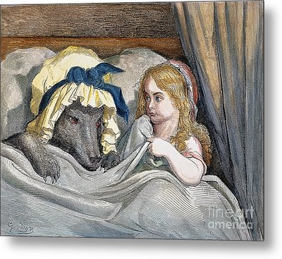 Little Red Riding Hood Metal Print by Granger