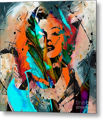 Marilyn Monroe Painting Metal Print
