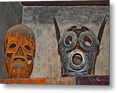 Masks Medieval Inquisition. Next To Charles Bridge. Prague. Czech Republic. Metal Print by Andy Za