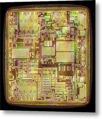Microchip Metal Print by Ktsdesign