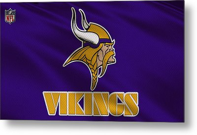 Minnesota Vikings Uniform Metal Print