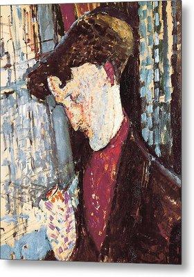 Modigliani, Amedeo 1884-1920. Portrait Metal Print by Everett