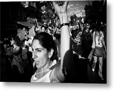 Occupy Gezi - Protests Against Turkish Government Metal Print by Ilker Goksen