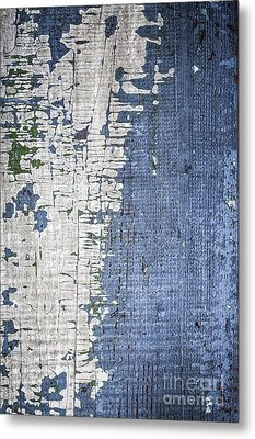 Old Painted Wood Abstract No.4 Metal Print