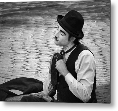 4 - Over And Through - French Mime Metal Print