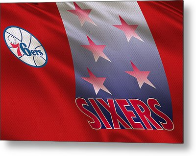 Philadelphia 76ers Uniform Metal Print