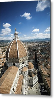 Piazza Del Duomo With Basilica Of Saint Metal Print by Evgeny Kuklev