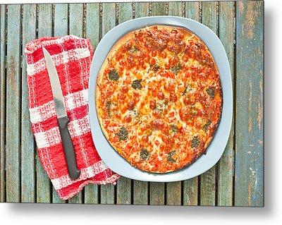 Pizza Metal Print by Tom Gowanlock