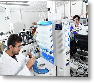 Polypeptide Synthesis Laboratory Metal Print by Andrew Brookes, National Physical Laboratory