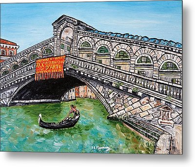 Ponte Di Rialto Metal Print by Loredana Messina