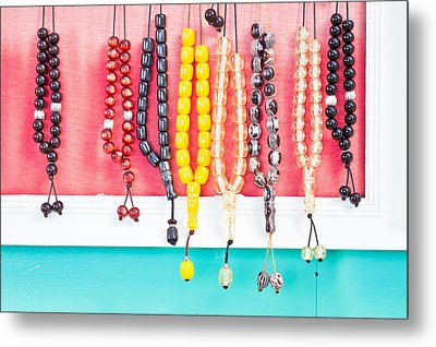 Prayer Beads Metal Print by Tom Gowanlock