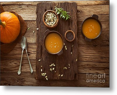 Pumpkin Soup Metal Print