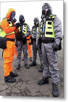 Radiation Emergency Response Workers Metal Print