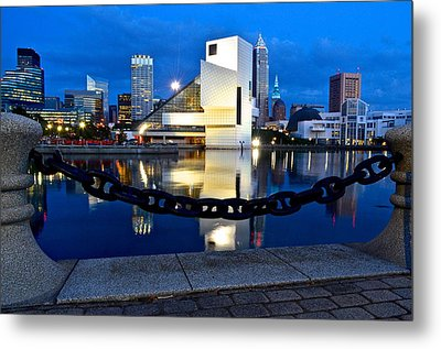 Rock And Roll Hall Of Fame Metal Print by Frozen in Time Fine Art Photography