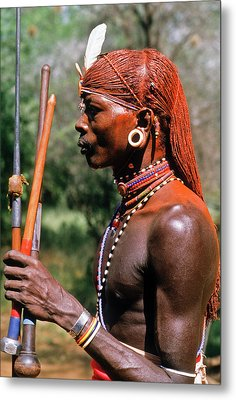 Samburu Warrior Metal Print