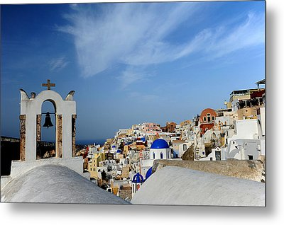 Santorini Greece Metal Print by John Jacquemain