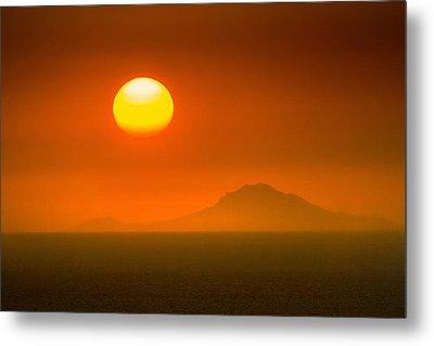 Santorini Sunset Metal Print by Bjoern Kindler