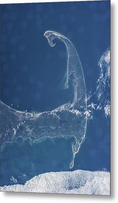Satellite View Of Cape Cod National Metal Print