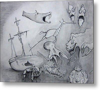 Sea Dragon Metal Print by Dan Twyman