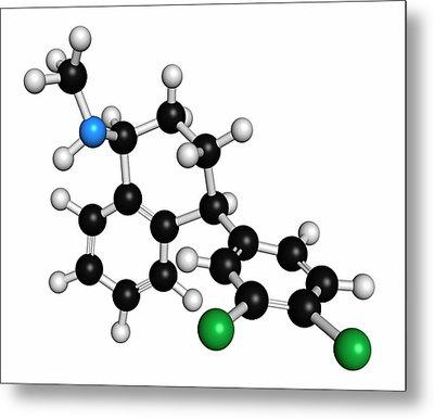 Sertraline Antidepressant Drug Molecule Metal Print by Molekuul