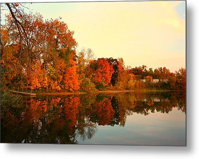 Shady Oak Lake  Metal Print