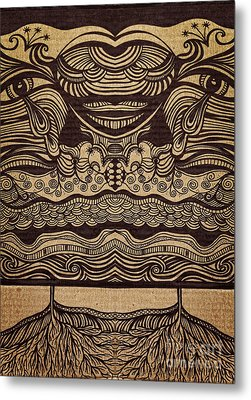 Sharpie On Cardboard Metal Print by HD Connelly