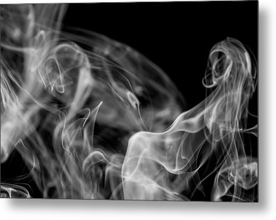 Smoke Metal Print by Marek Poplawski