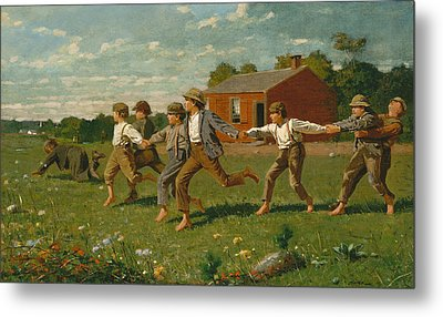 Snap The Whip Metal Print by Winslow Homer
