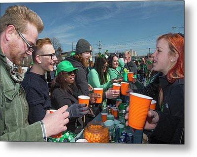 St. Patrick's Day Celebrations Metal Print by Jim West