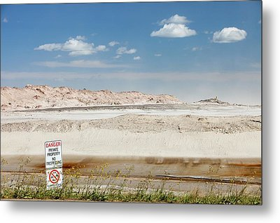 Tailings Pond At The Syncrude Mine Metal Print by Ashley Cooper
