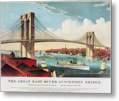 The Brooklyn Bridge Metal Print by Mountain Dreams
