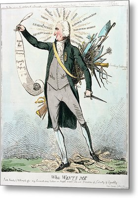 Thomas Paine (1737-1809) Metal Print by Granger