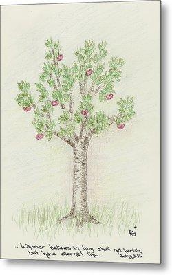 4 Trees-4th Tree Summer Metal Print